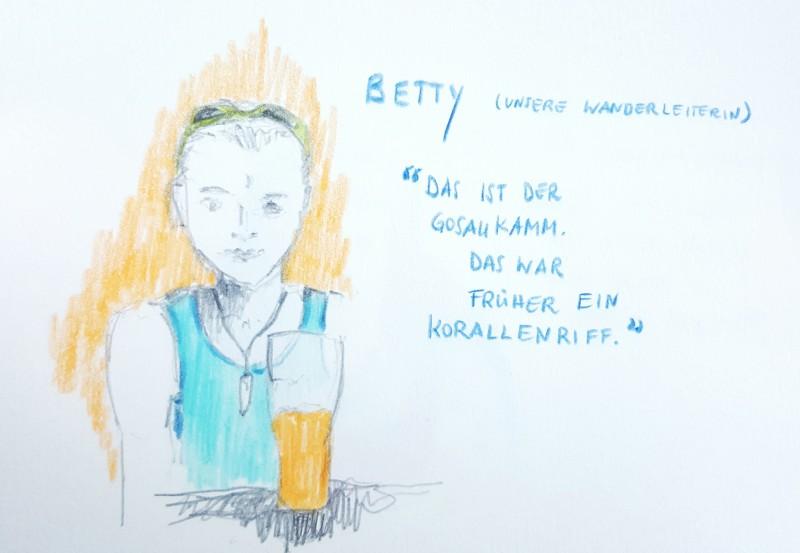 Unsere Wanderleiterin Betty