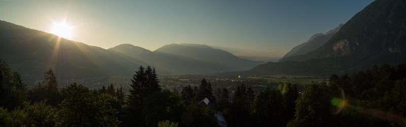 Sonnenaufgang von der Hotelterasse
