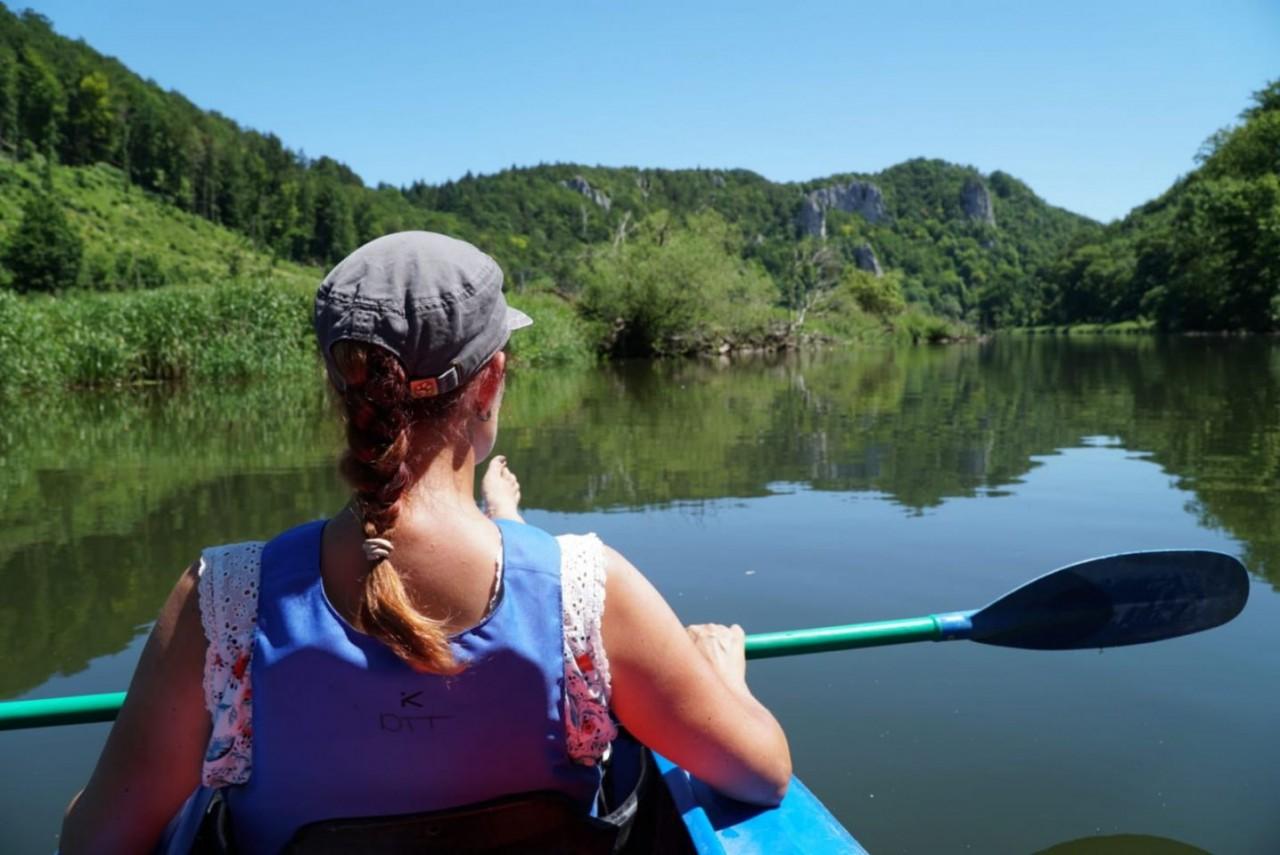 Kanu fahren im Donautal
